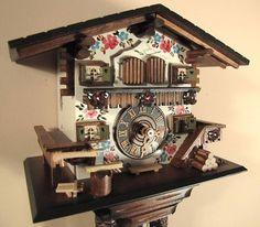 Cuckoo Kingdom - Cuckoo Clock, Bavarian Cottage, Hand Painted , Model