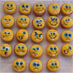 Spongebob cupcakes @Gabbi Benton