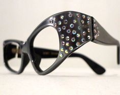 Rhinestone Cat Eye Eyeglass Frames France by BibbysRocket on Etsy, $154.00