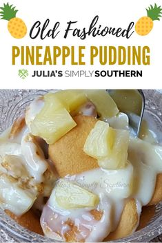 Old Fashioned Pineapple Pudding from scratch. This easy dessert is made with van. - Old Fashioned Pineapple Pudding from scratch. This easy dessert is made with vanilla wafers, pineap - Custard Desserts, Pudding Desserts, Pudding Recipes, Milk Recipes, Egg Recipes, Pasta Recipes, Bread Recipes, Cake Recipes, Chicken Recipes