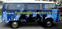 Flamingo Road Church VW Van Wrap
