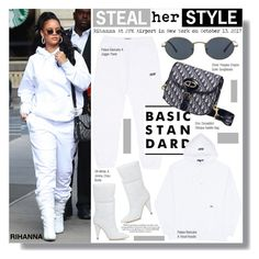 """""""Steal Her Style: Rihanna"""" by chocolate-addicted-angel ❤ liked on Polyvore featuring Jimmy Choo and Oliver Peoples"""