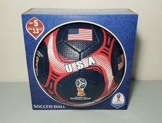 FIFA Official Russia 2018 World Cup USA United States Soccer Ball Size 5 New f554d6e8e48ff