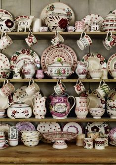 Designs by Emma Bridgewater, who talks about her life and her passion for pottery at the Buxton Festival Vintage Dishes, Vintage China, Emma Bridgewater Pottery, Mugs And Jugs, Welsh Dresser, Pip Studio, Cozy Cottage, Home And Deco, China Porcelain