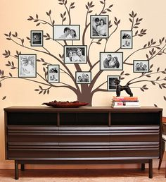 Family Photo Tree Wall Decal WAL-2117 by DecalLab on Etsy