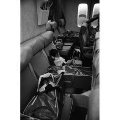 Vietnamese Refugee Children on a Flight to San Francisco