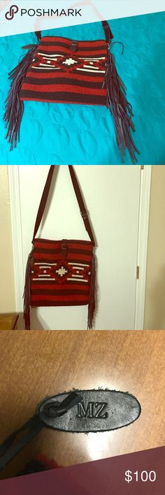 Manos Zapoteca Navaho Purse This Navaho Manos Zapotecas purse is made in Mexico with 100% wool! It is definitely a show stopper, I've gotten so many compliments on it! This purse is in perfect condition... and you'll be sure to wow wherever you go! Manos Zapotecas  Bags Totes