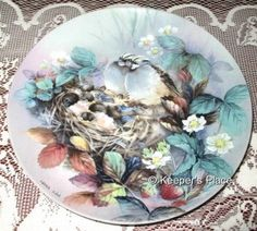 Lena Liu Tender Lullaby 3rd In The Nature's Poetry Series Collectors Plate MINT