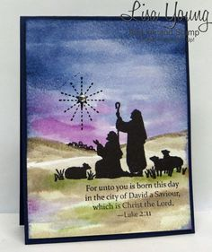Add Ink and Stamp (Lisa Young):  Every Blessing Watercolor:  Water Color paper: Night of Navy card stock:  Night of Navy, Blackberry Bliss, Tip Top Taupe, Pear Pizzazz, Basic Black Archival inks: Basic Black marker: Other: Rhinestone, Blender Pen, Non Stampin' Up! watercolor brush