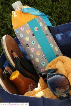 Flaschentasche – Kostenlose Schnittmuster und Foto-Nähanleitung - selbernähen.net