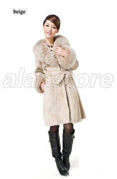 Latest Style Fur Overcoat For Women On Hot Sale, European Style Sheepskin Made Overcoat With Long Length At Amazing Price