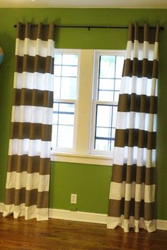 DIY painted stripe Ikea curtains-IM DOING IT!