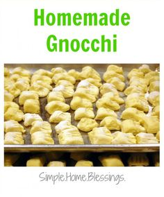 Homemade Gnocchi - for freezer or for tonight! Get the kids involved in the kitchen with this simple recipe.