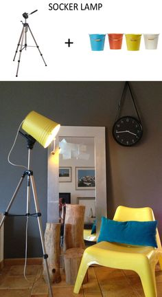 IKEA SOCKER bucket + camera tripod by mommo design