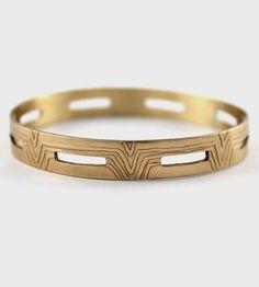 Rectangle Cutout Bangle Bracelet