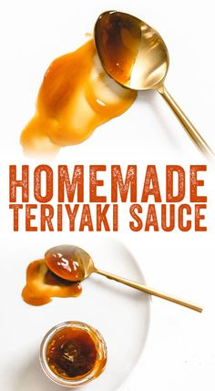 Easy Homemade Teriyaki Sauce – A Couple Cooks This easy homemade teriyaki sauce recipe takes only 5 minutes to make, and has no refined sugar or preservatives! You'll never buy teriyaki sauce again. Teriyaki Marinade, Homemade Teriyaki Sauce, Homemade Sauce, Homemade Recipe, Sauce Recipes, Vegan Recipes, Cooking Recipes, Pizza Recipes, Chicken Recipes