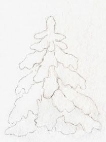 Everyday Artist: How to Paint a Snow-Covered Evergreen Tree - Technique Watercolor Paintings Abstract, Watercolor Trees, Easy Watercolor, Watercolor Portraits, Painting Canvas, Watercolor Landscape, Watercolors, Watercolor Painting Techniques, Watercolor Projects