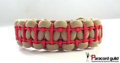 Ladder stitched paracord bracelet tutorial.