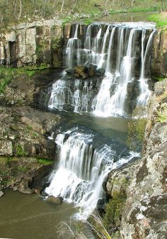 Ebor Falls is a cascade waterfall on the Guy Fawkes River, located near Ebor and about 37 kilometres (23 mi) north-east of Wollomombi