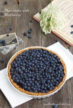 Cheesecake mit Blaubeeren