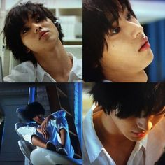 "L from Ep.3, 07/19/'15    [Preview, Ep.4] https://www.youtube.com/watch?v=Ft14aB_McYY Kento Yamazaki, Masataka Kubota, Hinako Sano, Yutaka Matsushige.  J drama series ""Death Note"", 07/26/'15 [Ep. w/Eng. sub] http://www.dramanice.tv/drama/death-note-japanese-drama--detail"