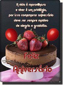 Birthday Cards, Happy Birthday, Cheesecake, Ethnic Recipes, Desserts, Food, Gifs, Happy Birthday Sms, Portuguese Quotes