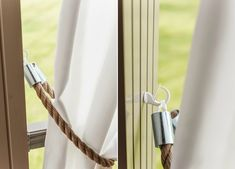 Curtains, Personalized Items, Camping, Interiors, Home Decor, Elegant Curtains, Curtain Holder, Yarn And Needle, Leather Cord