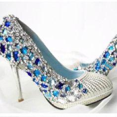 something blue - diamonte shoes