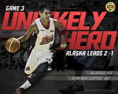 UNLIKELY HERO: RJ Jazul scored all of his six points in overtime, leading Alaska to a comeback victory in Game 3. Alaska now leads series 2-1. #PBA