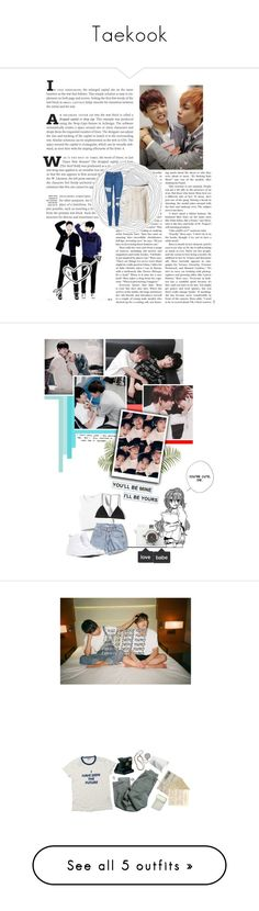 """""""Taekook"""" by baekyeoltaekook ❤ liked on Polyvore featuring NSF, Topshop, Converse, Pier 1 Imports, Monki, Dion Lee, Levi's, Polaroid, Forever New and Christy"""