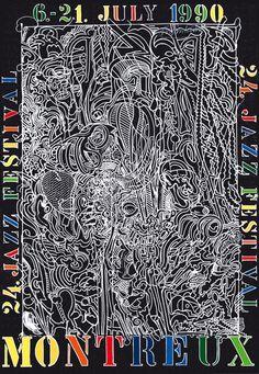 Bernard Luginbühl - poster Montreux Jazz Festival 1990