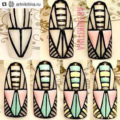 Nail Art Ethnique, Galaxy Nail Art, Aztec Nails, Classic Nails, Happy Nails, Geometric Nail, Manicure Y Pedicure, New Nail Art, Fabulous Nails