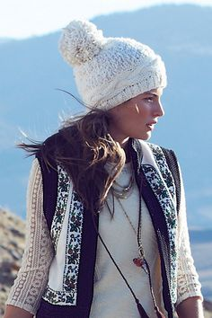 98157fb6e28 Anthro s Pommed Peak Beanie. Nothing is better than a good beanie. Winter  Hats