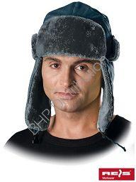 Szara czapka uszanka CZOEXTREME