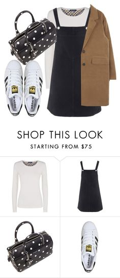 """Untitled #3115"" by dkfashion-658 ❤ liked on Polyvore featuring Aquascutum, Topshop, Yves Saint Laurent and adidas"