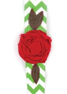 Vintage Rose Wrap Green Chevron  $16
