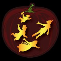 Peter Pan 02 CO - Stoneykins Pumpkin Carving Patterns and Stencils