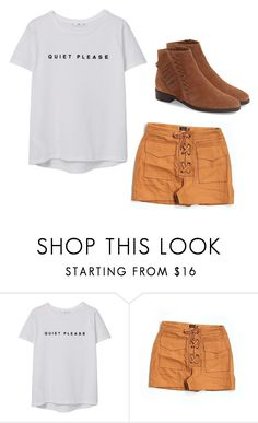 """""""Untitled #1478"""" by sammy-92 ❤ liked on Polyvore featuring MANGO, Topshop and topshop"""