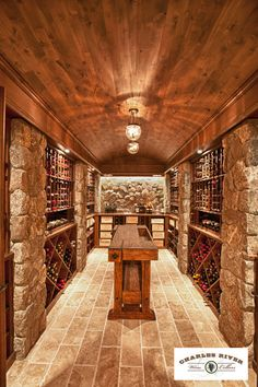 Traditional Wine Cellar Design, Pictures, Remodel, Decor and Ideas - page 11 Wine Cellar Basement, Wine Tasting Room, Tasting Table, Home Wine Cellars, Wine Cellar Design, In Vino Veritas, Wine Storage, Ceiling Design, Bars For Home