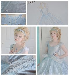 Her Cinderella-inspired dress is a beautiful take on Disney's version. | This 18-Year-Old Girl Is Sewing Gowns That'll Take Your Breath Away