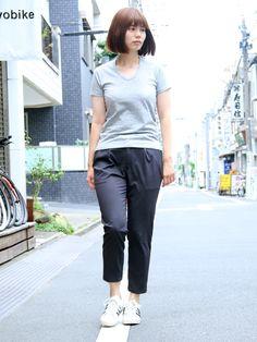サマーウール調ツイルストレッチ2タックイージーアンクルパンツ [Lady's]【MADE IN JAPAN】『日本製』【送料無料】 / Upscape Audience - 【 Audience 】