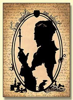 Lord Vetinari Papercut Greetings Card - look at that Wuffles