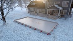 EZ Ice is a DIY backyard rink! You can now have the backyard rink you?ve wanted all your life, thanks to this outdoor rink Backyard Hockey Rink, Backyard Ice Rink, Outdoor Rink, Ice Hockey Rink, Outdoor Decor, Outdoor Ideas, Outdoor Skating, Outdoor Stuff, Backyard Patio