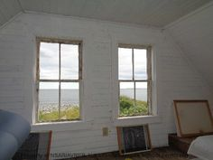 Ocean view, check out the bead board ceiling and panel walls