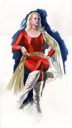 Alex Ross - Mary Marvel painting Comic Art