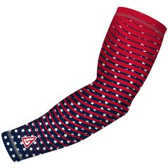 Patriot Series Stripes Compression Arm Sleeve Football And Basketball, Baseball, Compression Arm Sleeves, Sea To Shining Sea, Arms, Stripes, Sports Activities, Athletic, Bowling