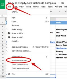 A Step By Step Guide On How to Create Flashcards Using Google Spreadsheets ~ Educational Technology and Mobile Learning