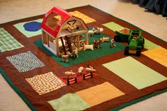Farm quilted play mat.Love it-what a great idea!