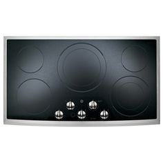 GE�5-Element Smooth Surface Electric Cooktop (Stainless Steel) (Common: 36-in; Actual 36.125-in) at Lowe's $728.19