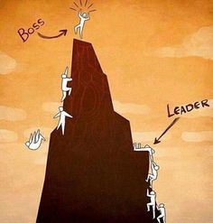 Retweeted Pics with a Story (@RealTouchingPic):  boss versus leader  http://fb.me/6Ooj0nhmd